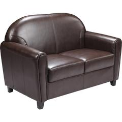HERCULES Envoy Series Brown Leather Love Seat
