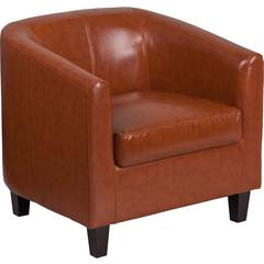Cognac Leather Office Guest Chair / Reception Chair