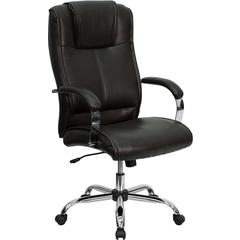 Flash Furniture High Back Brown Leather Executive Swivel Office Chair