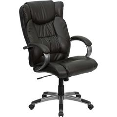 Flash Furniture High Back Espresso Brown Leather Executive Swivel Office Chair