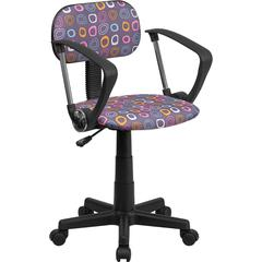 Flash Furniture Multi-Colored Pattern Printed Computer Chair with Arms