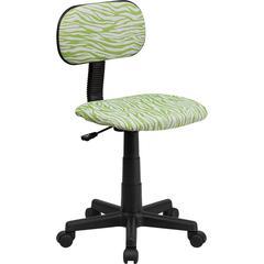 Flash Furniture Green and White Zebra Print Swivel Task Chair
