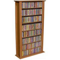 Venture Horizon Media Storage Tower-Regular Single, 28 x 9-1/2 x 50, Walnut
