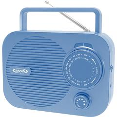 Portable AM/FM Radio with Aux Line-in (Blue)