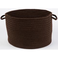 "WearEver Brown Poly 18"" x 12"" Basket"