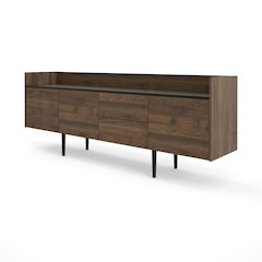 Unit 2 Drawer and 3 Door Sideboard, Walnut / Black