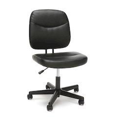Armless Leather Desk Chair