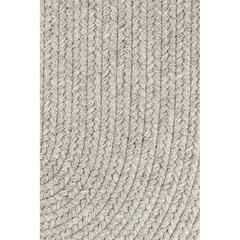 "Rhody Rug Solid Lt. Gray Wool 18"" x 36"" Slice"