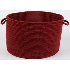 "Solid Barn Red Wool 18"" x 12"" Basket"