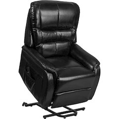 HERCULES Series Black Leather Remote Powered Lift Recliner