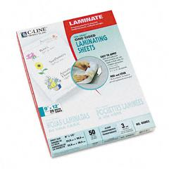 C-Line Cleer Adheer Laminating Film, 3mm, 9 x 12, 50/Box