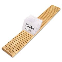 Wooden Name Badge Holder, 23 5/8 x 3 1/2 x 3/4