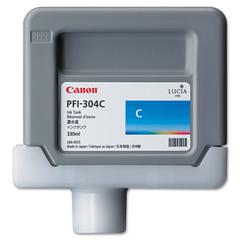 Canon 3650B001AA (PFI-304) Ink, 330mL, Cyan