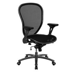 Flash Furniture Mid-Back Professional Super Mesh Chair Featuring Solid Metal Construction with Black Accents