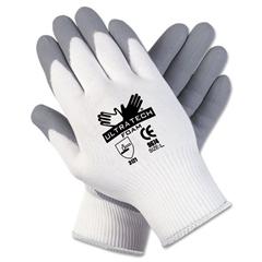 Memphis Ultra Tech Foam Seamless Nylon Knit Gloves, Extra Large, White/Gray, Pair
