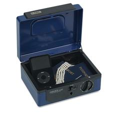 Dual Lock Personal Security Box, Combination and Key Locks, Blue