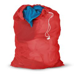 2-Pk, Mesh Laundry Bag, 24 X 36Red