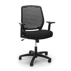 Plastic Back Ergonomic Task Chair, Black