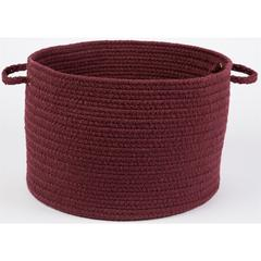 "WearEver Burgundy Poly 18"" x 12"" Basket"