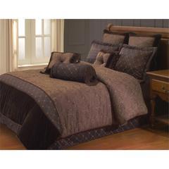 Opulent Paisley 9 PC Queen Comforter Set, Brown