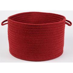 """Solid Scarlet Wool 18"""" x 12"""" Basket"""