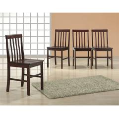 Espresso Wood Dining Chairs, Set of 4