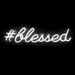 Oliver Gal 'Blessed LED Neon Light' LED Art 24x6x6 Inch