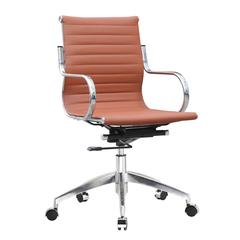 Twist Office Chair Mid Back, Light Brown