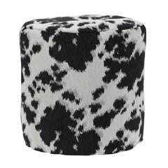 American Furniture Classics Black Cow Udder Madness Pouf Ottoman