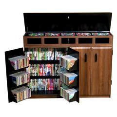 Top Load Media Cabinet, 48 x 13 x 37-1/4, Walnut/Black