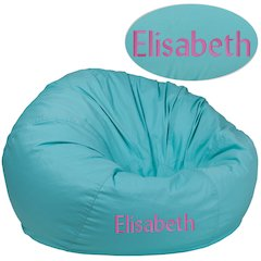 Personalized Oversized Solid Mint Green Bean Bag Chair
