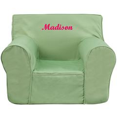 Personalized Oversized Solid Green Kids Chair