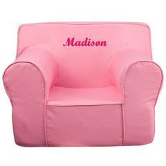 Personalized Oversized Solid Light Pink Kids Chair