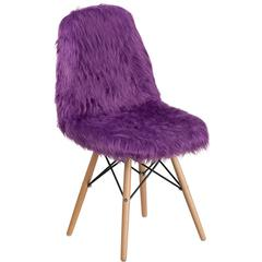 Shaggy Dog Purple Accent Chair