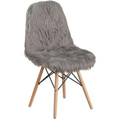 Shaggy Dog Charcoal Gray Accent Chair