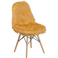 Shaggy Dog Beige Accent Chair