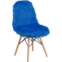 Shaggy Dog Cobalt Blue Accent Chair