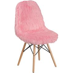 Shaggy Dog Light Pink Accent Chair