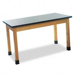 Science Table, Rectangular, 48w x 24d x 30h, Black