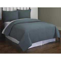 Ashton Teal Herringbone Stitch 3 piece Quilt Set King, Teal