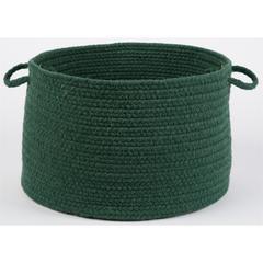"Solid Hunter Green Wool 18"" x 12"" Basket"