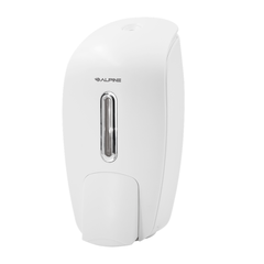 Alpine Industries 425-WHI Soap & Hand Sanitizer Dispenser, Surface Mounted, 800 ml Capacity, White