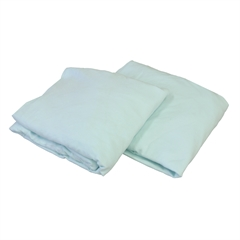 Knitted Fitted Sheet for Compact Crib Mattress Natural 100% Cotton Fabric, Mint
