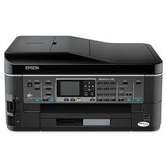 Epson WorkForce 545 Wireless All-in-One Inkjet Printer, Copy/Fax/Print/Scan
