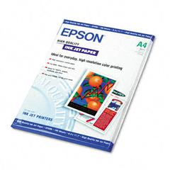 Epson High Quality Inkjet Paper, Bright White, A4 (8-3/8 x 11-3/4), 100 Sheets