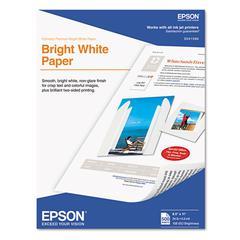 Premium Bright White Inkjet Paper, 108 ISO Brightness, Letter, 500 Sheets