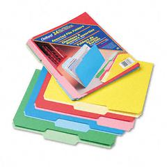 Pendaflex Two-Tone File Folders, 1/3 Cut Top Tab, Letter, Assorted Colors, 24/Pack