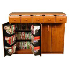 Venture Horizon Top Load W/Drawers, 48-1/2 x 13 x 37-1/4, Oak/Black