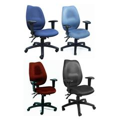 Boss Blue High Back Task Chair W/ Seat Slider