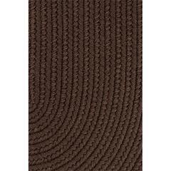 "Rhody Rug WearEver Brown Poly 18"" x 36"" Slice"